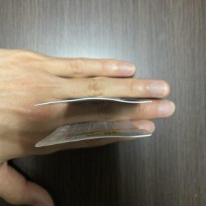 カード折れた