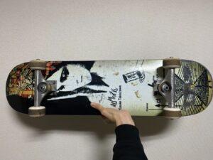 実際に使用しているスケートボードの板