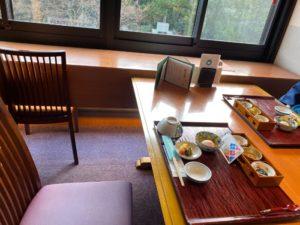 かがり吉祥亭の朝食の座席